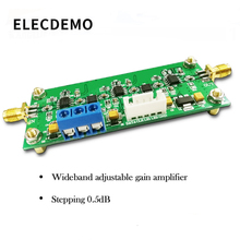 Adjustable Gain Amplifier Module 30K-200M Wideband Programmable 65dB 0.5dB Stepping