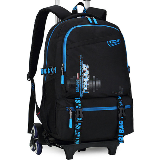 d0a08d0f5f72 New Kids Trolley School bags Boys Children Removable Backpack 2-6 Wheels  For Children Rolling