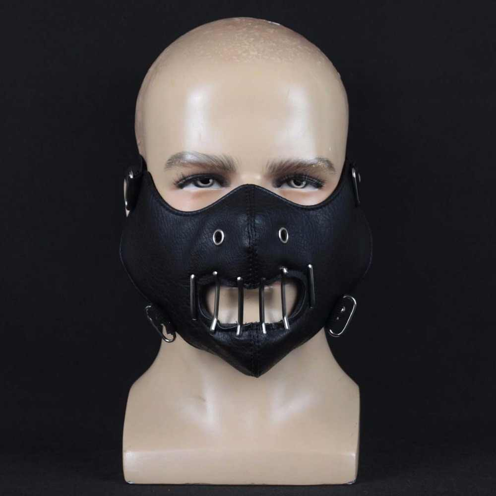 The Silence Of The Lambs Mask Cosplay Hannibal Lecter Steel Teeth Masks Masquerade Halloween Party Props DropShipping