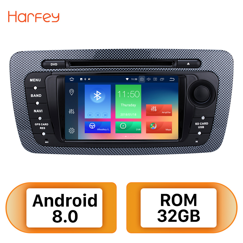 Harfey 2Din Android 8,0 7 дюймов радио автомобиль SEAT IBIZA VW 2009 2010 2011 2012 2013 Tochscreen gps мультимедиа плеер Wi Fi