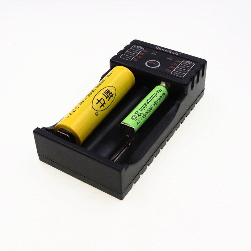 Daweikala Daa201 18650 Charger 1.2V 3.7V 3.2V 3.85V AA / AAA 26650 10440 14500 16340 25500 NiMH lithium battery smart charger