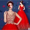 2016 красный шар пром платья длинные платья золото блестка этап длинный костюм пуховкой длиной до пола