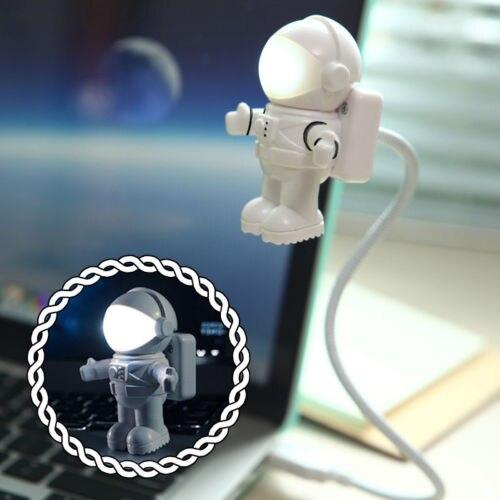 New Style Cool Astronaut Spaceman Light Portable Ultra Bright USB Reading Lamp Mini USB Led Lamp Flexible LED USB Light Gadgets