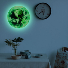 20cm 3D Wall Stickers for Kids Room Luminous Moon Star Earth Bedroom Glow In The Dark Stars living room wall stickers home decor