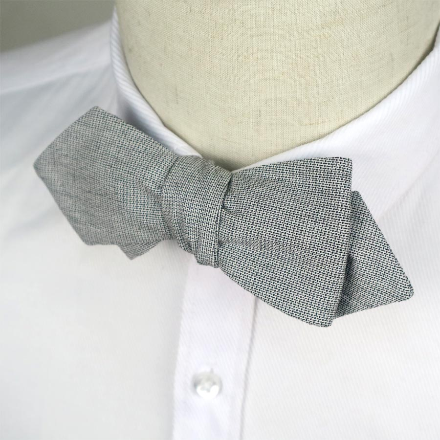 YFHLB0107 New Cotton Mens Self Tie Bow Ties Vintage Solid Gray Bowtie Butterfly For Men Noeud Papillon Business Wedding Party