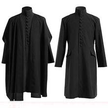Hommes femmes déguisement dhalloween professeur Severus Snape poudlard école cape reliques de mort Robe magique professeur uniforme