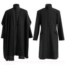 Traje professor gravus snape de hogwarts, fantasia de halloween feminina e masculina, uniforme de professor mágico