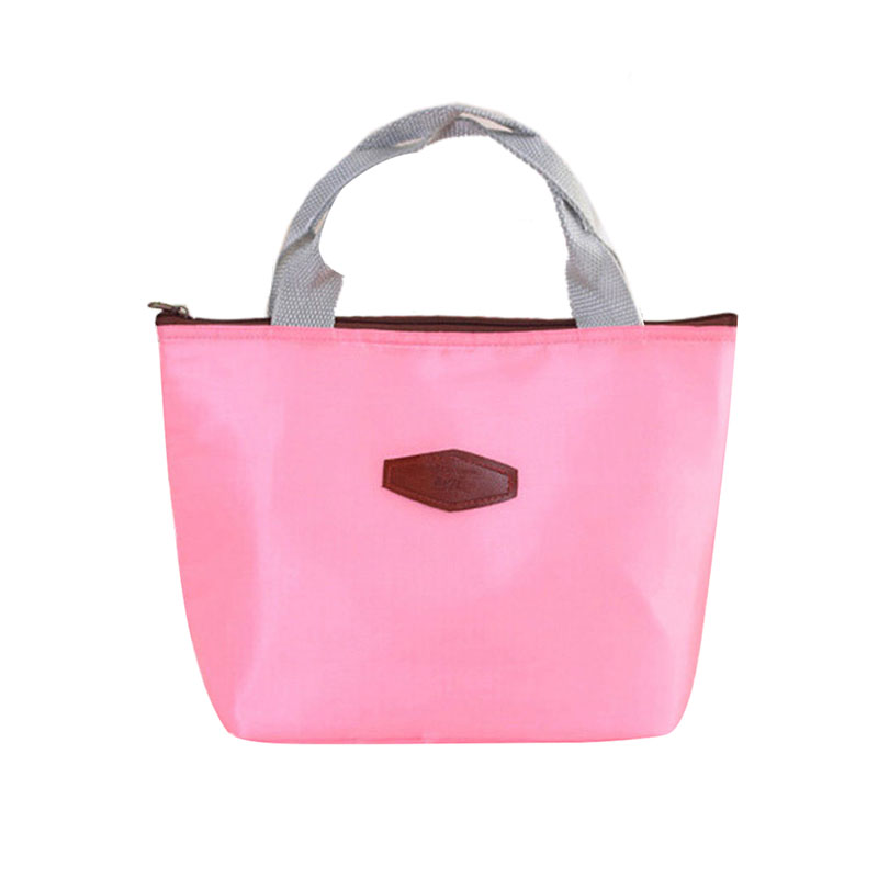 Waterproof Portable Insulated Lunch Storage Bag Pink