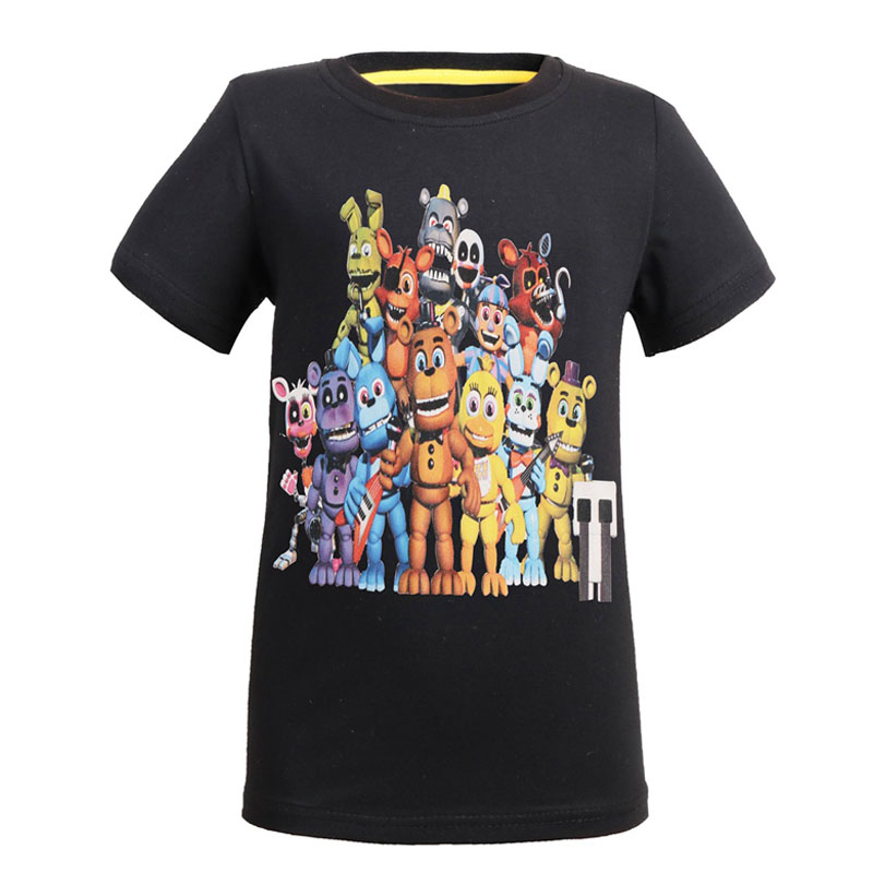 BLUE KIDS TEENAGE BOYS FIVE NIGHTS AT FREDDY/'S FNAF 4 HORROR CHICA T-SHIRT
