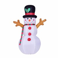 160cm Giant Snowman Inflatable Toy Santa Claus LED Lighted Christmas Halloween Oktoberfest Props Winter Party Blow