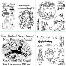Cartoon animal theme design transparent silicone sealing strip / sealed DIY scrapbook album decoration card making clear seal