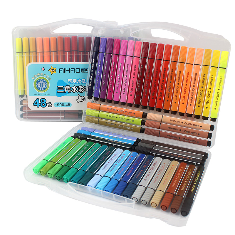 12/18/24/36/48 Colors Art Marker Pen Drawing Set Colored Children Painting Watercolor Pens Safe Non-toxic Water Washing Graffiti12/18/24/36/48 Colors Art Marker Pen Drawing Set Colored Children Painting Watercolor Pens Safe Non-toxic Water Washing Graffiti