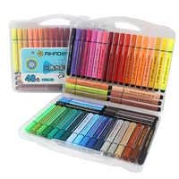 12/18/24/36/48 Colors Art Marker Pen Drawing Set Colored Children Painting Watercolor Pens Safe Non-toxic Water Washing Graffiti