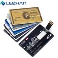 LEIZHAN Personalized Credit Card USB Stick HSBC Visa Customized USB Flash Drive 64g 32g 16g 8g 4g Computer Memory Card Pendrive
