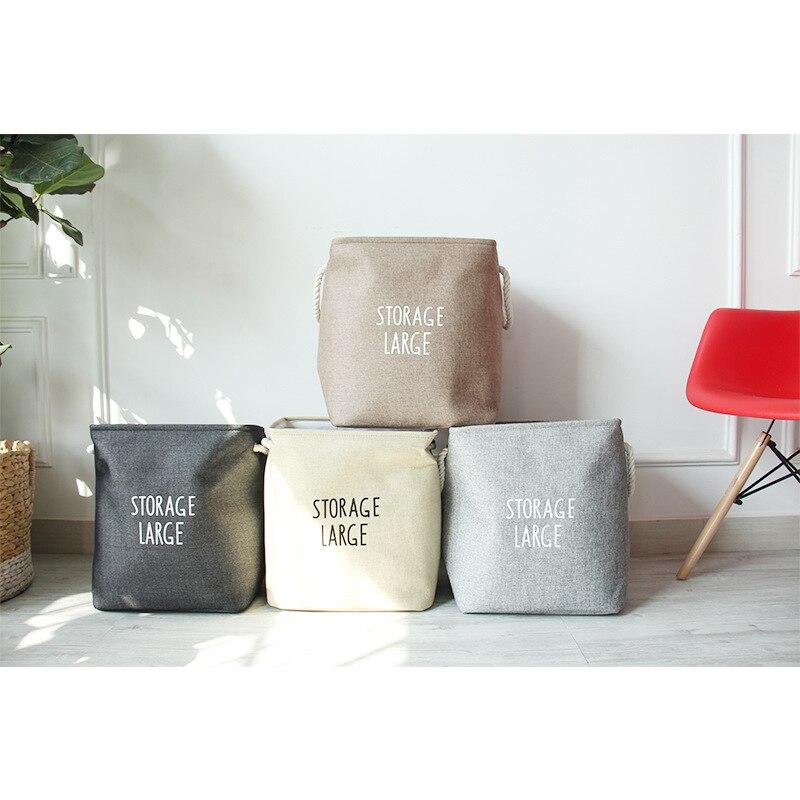 Tnukk cotton padded storage basket square large dirty ...