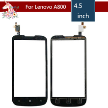 4.5 For Lenovo A800 A 800 LCD Touch Screen Digitizer Sensor Outer Glass Lens Panel Replacement