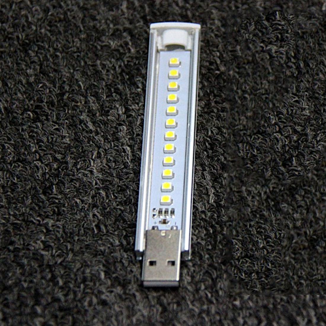 NOYOKERE Newest Mini font b USB b font LED Night Light 12LEDs 5V Bulb Cold White