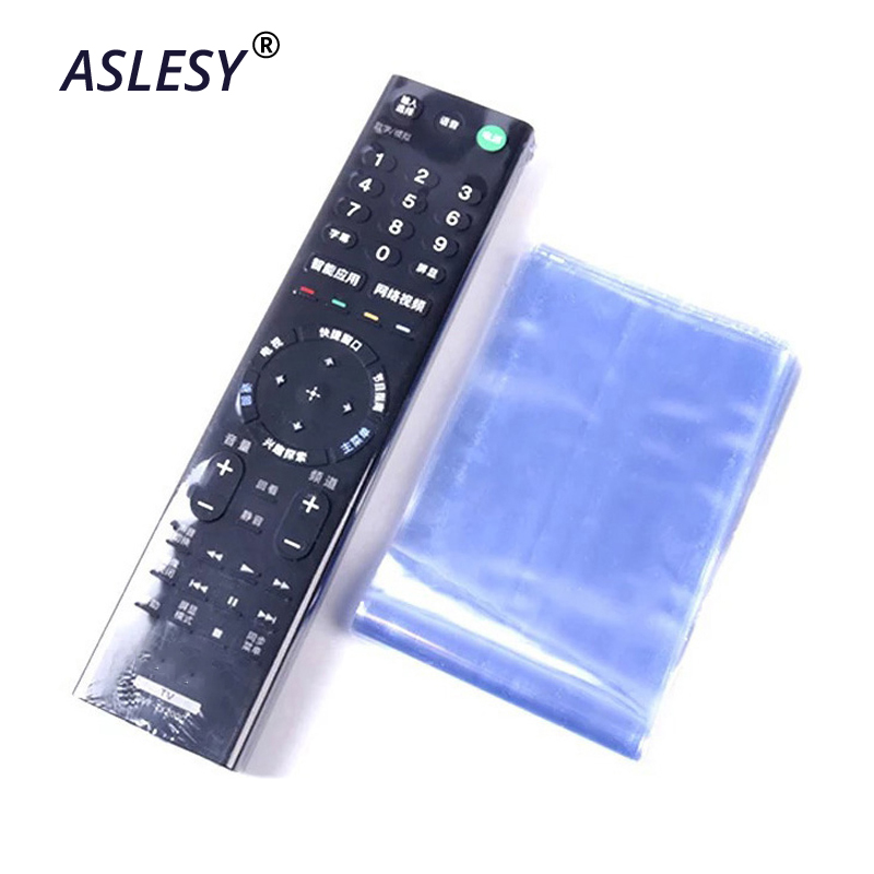 25/50Pcs Heat Shrink Film Clear Tv Air Condition Remote Control Dust-proof Protector Cover Home Waterproof Protective Case New