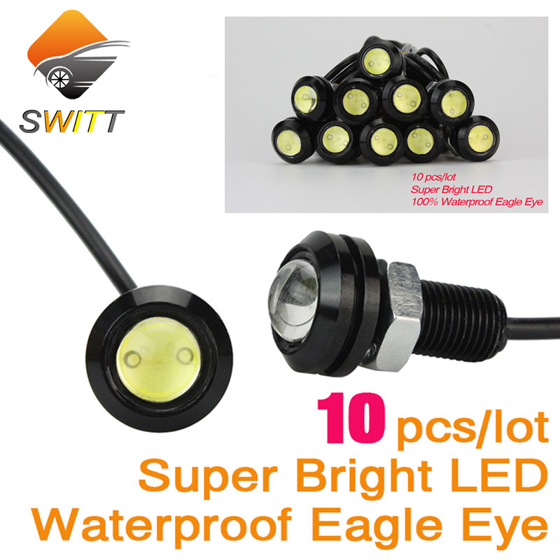 Eagle Eye 10pcs/lot Car styling 18mm led car light Parking Lights Daytime Running Light Waterproof working DRL Fog lamp Source 15w car led eagle eye headlight fog lights spotlights 6000k ip67 waterproof daytime running light for vehicle motorcycle