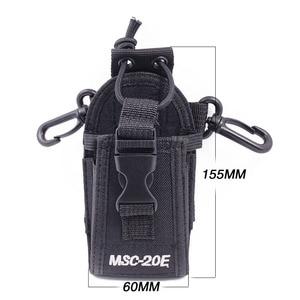 Image 2 - 2pcs Abbree MSC 20E נייד רדיו ניילון מקרה כיסוי דיבורית מחזיק למכשיר קשר Baofeng UV 5R UV XR UV 9R בתוספת BF 888S