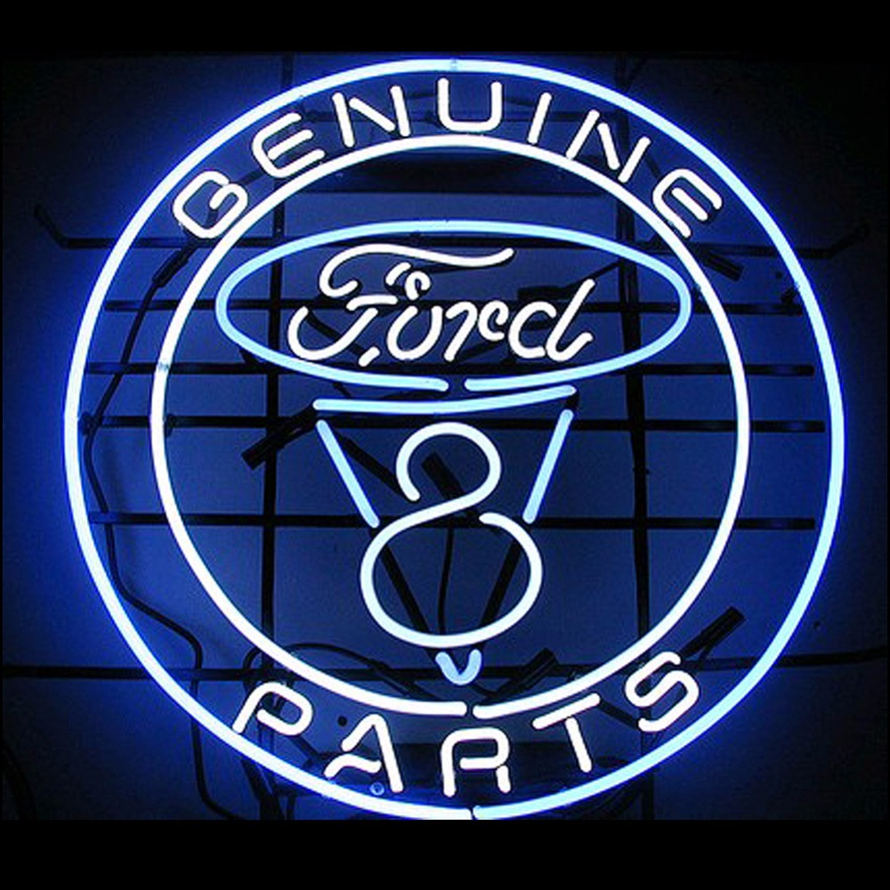FS Neon Sign Ford Genuine Parts Real Glass Neon Light Sign