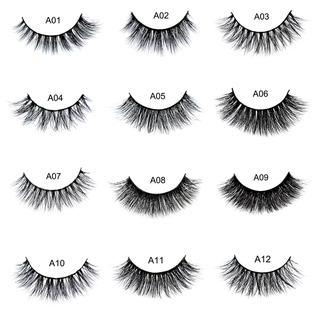 ad4423faca1 False eyelash 3D Mink Eyelashes Cruelty Free Natural Extension Long Cross Thick  Mink Lashes Handmade Eye
