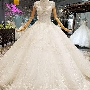 Image 5 - Vestidos de boda de satén AIJINGYU, vestidos de novia plisados en línea para ser un vestido de boda de Color