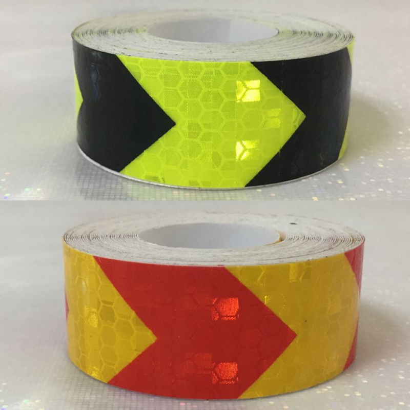 Купить с кэшбэком 25mm x 5m Safety Mark Reflective tape stickers car-styling Self Adhesive Warning Tape Automobiles Motorcycle Reflective Film
