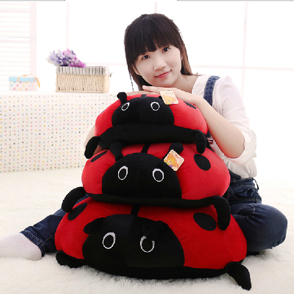 cute cartoon ladybird plush toy doll soft throw pillow toy birthday gift h2813 cartoon glasses panda in yellow cloth large 70cm plush toy panda doll soft pillow christmas birthday gift x031