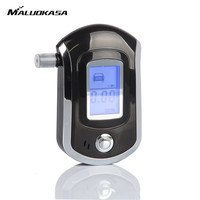 MALUOKASA Professional Mini Alcohol Tester Smart Digital LCD Screen Breath Alkohol Breathalyzer AT6000 Bafometro Alcoholimetro