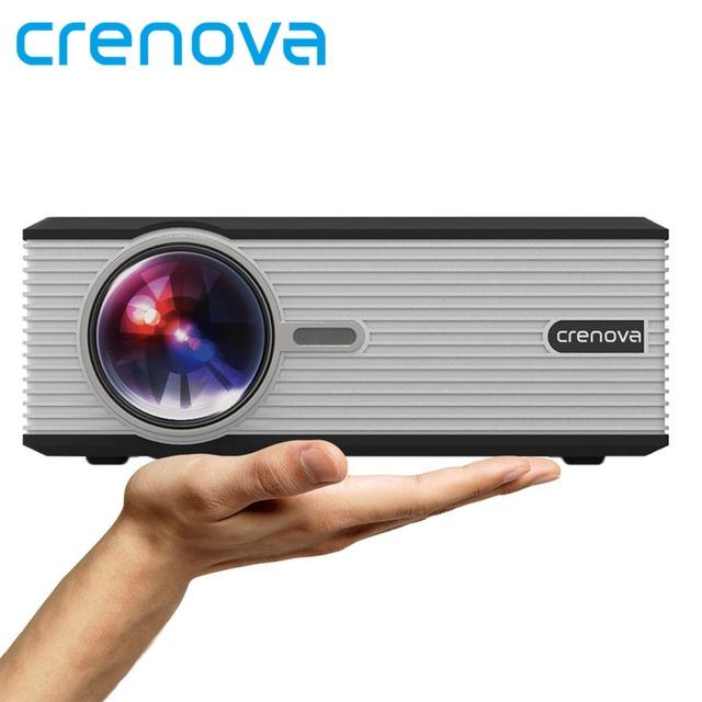 Crenova XPE470 LED Video Proyector 1080 P Proyector Oficina desde la Unidad USB TV Teléfono Inteligente Portátil