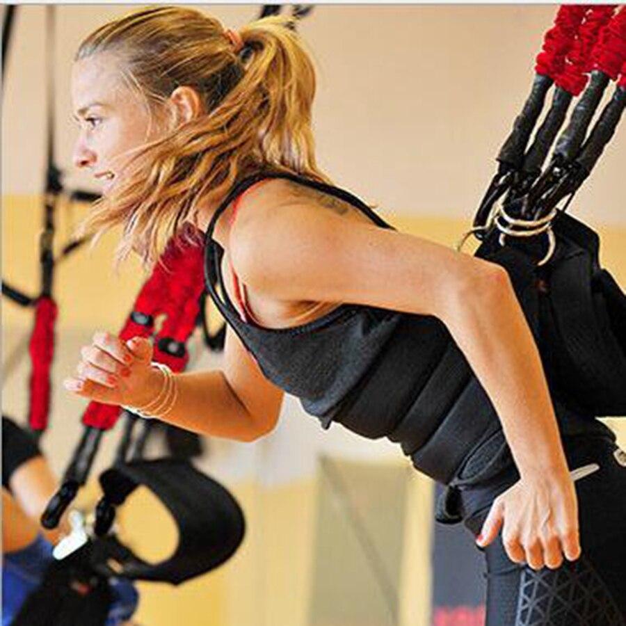 14 stücke Neue Pilates Suspension Elastische Schlinge Praxis Pull Seil Bungee Workout Trainer Schnur Widerstand Hängende Ausbildung Straps
