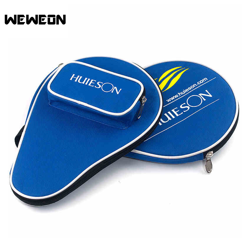 Calabash Shaped Table Tennis Bag Large Capacity Ping Pong Case with Extra Pocket for 3 Ping Pong Ball Racket Bag of Table Tennis