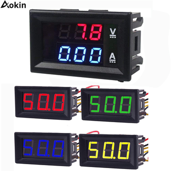Digital Voltmeter DC 4.5V to 30V Digital Voltmeter Voltage Panel Meter Red/Blue/Green For 6V 12V Electromobile Motorcycle Car image