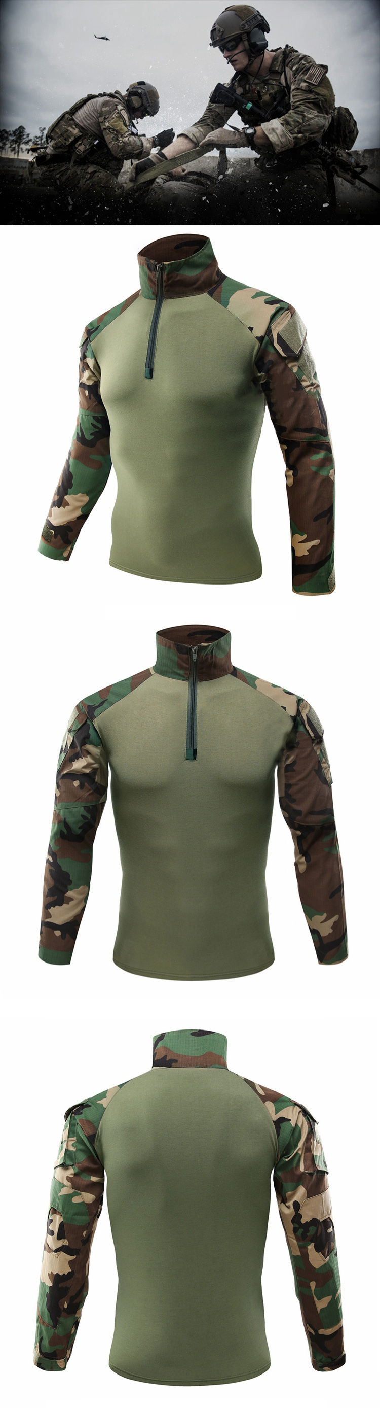 HTB1L8jdcUGF3KVjSZFvq6z nXXaH - Mege Military Shirt Camouflage Army Tactical Battle Combat Shirt Men Women USMC Softair Camisa Militar Special Forces Costume