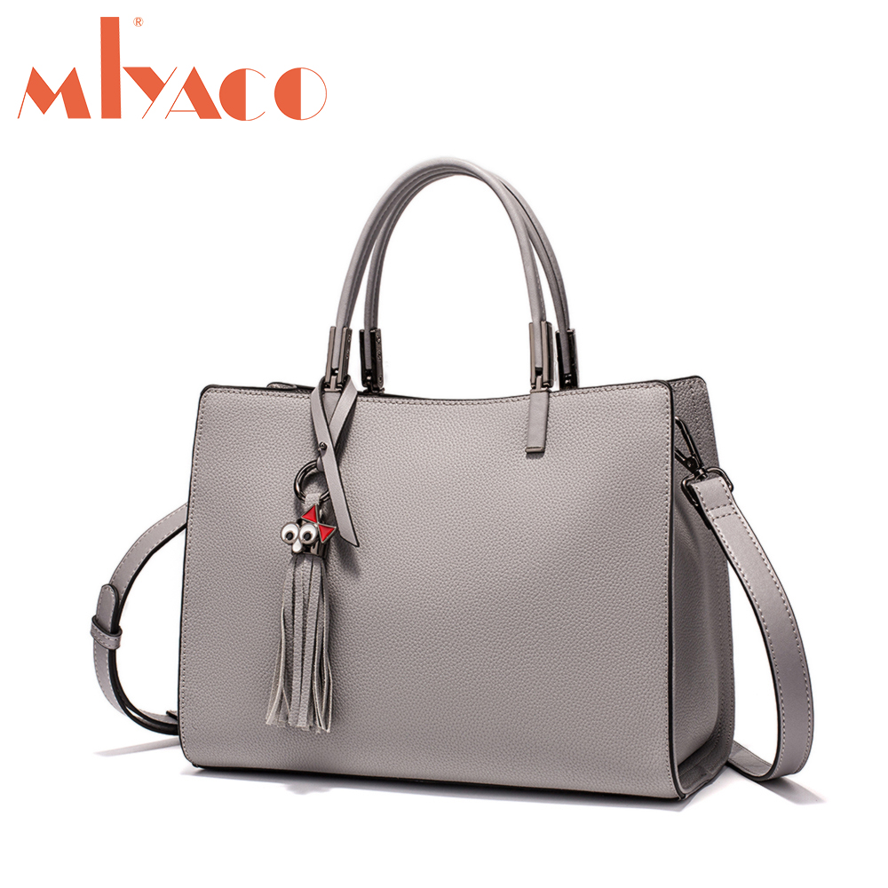 MIYACO Women Genuine Leather bags Totes Cow Leather Ladies HandBags Messenger Bags Hign Quality Designer Luxury Brand Bag