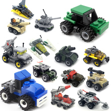 Promotion Building Block Bricks toys Car airplane tank child DIY mini Educational Blocks Toys Compatible LegoINGs City