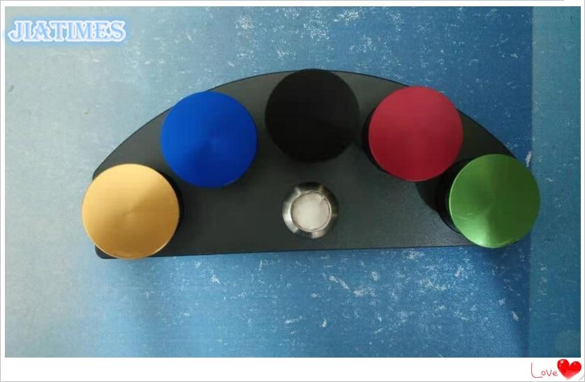 ¡Nuevo! Tazas de aceite soporte de aleación troquelada con 5 contenedores de colores Reparación de reloj-in Kits y herramientas de reparación from Relojes de pulsera    2