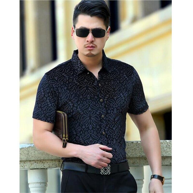 Picture xxxl Chemise Hommes Shirt Pleuche As Casual Qualité as Nouvelle Style D'été Frais Respirant American Creux Manches Arrivée À Picture M Mince Courtes Mode Hfqw461