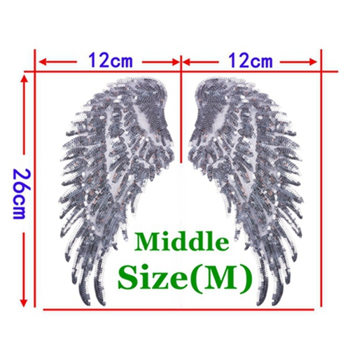 1 Pair Silver Middle
