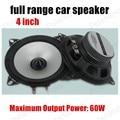 4 inch silver car speaker 2pcs 2x60W car horn speaker full range car speaker stereo audio speaker hot sale