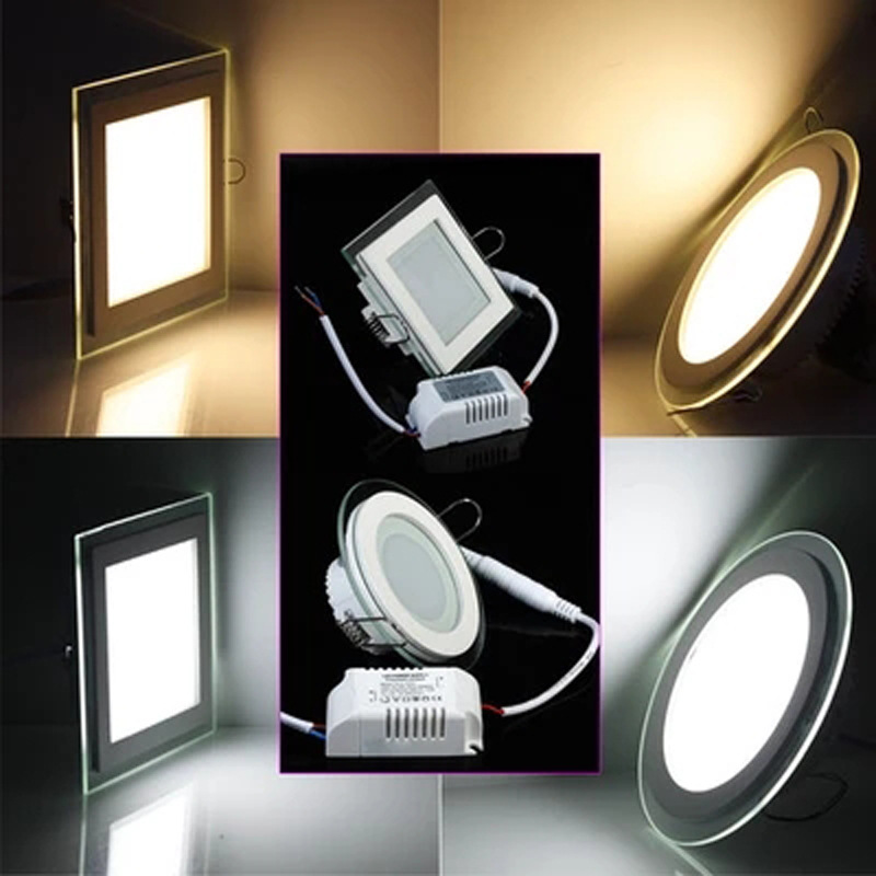 Recessed LED Downlight 6w 12w 18w LED Spot light LED decoration Ceiling Lamp 85-265vac glass downlight image