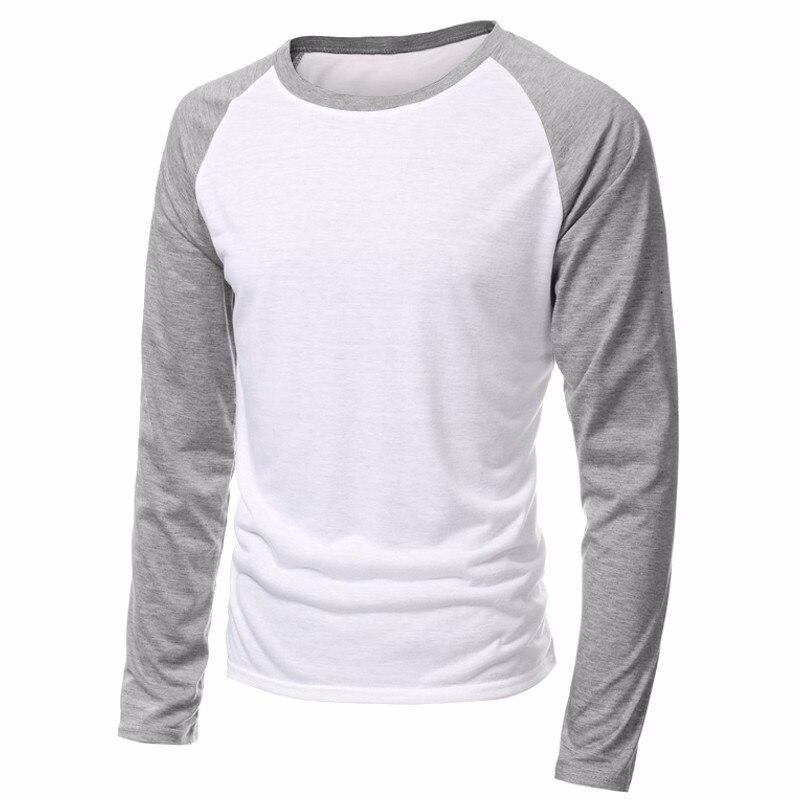 2019 Spring Brand Clothing Men's Long Sleeve Round Neck T-shirts Casual Baseball Tshirt Men Raglan Tee Streetwear Plus Size 4XL
