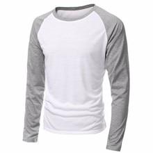 39cd9e16de 2019 primavera ropa de marca de los hombres de cuello redondo y manga larga Camisetas  de. 5 colores disponibles