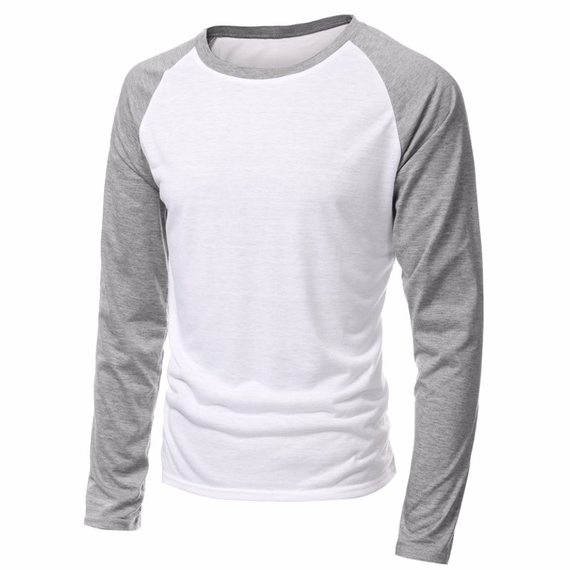 2020 Spring Brand Clothing Men's Long Sleeve Round Neck T-shirts Casual Baseball Tshirt Men Raglan Tee Streetwear Plus Size 4XL