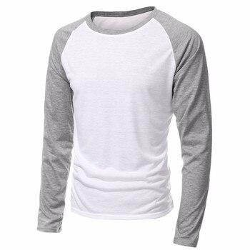 2020 Spring Brand Clothing Men's Long Sleeve Round Neck T-shirts Casual Baseball Tshirt Men Raglan Tee Streetwear Plus Size 4XL
