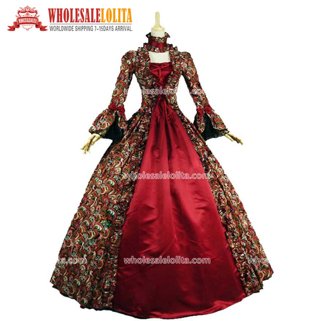 Hot Sale Georgian Gothic Dress Victorian Period Theatre Clothing