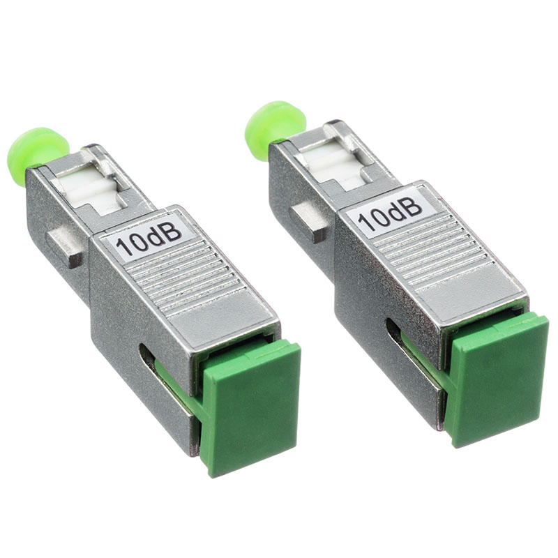 10PCS /Lot SC APC Singlemode Female to Male Optical Attenuator with 2dB 3dB 5dB 7dB 10dB 15dB  Fiber Optic