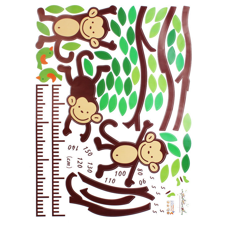 Monkey Animal Vinyl Wall Stickers For Kids Rooms Home Decor Diy Child Wallpaper Art Decals Design House Decoration In From Garden On