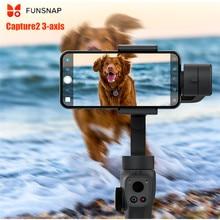 Захват funsnap 2 3-осевой ручной шарнирный стабилизатор для камеры GoPro с масштабированием режим колеса для iPhone XS XR X 8 плюс 8 7P экшн Камера